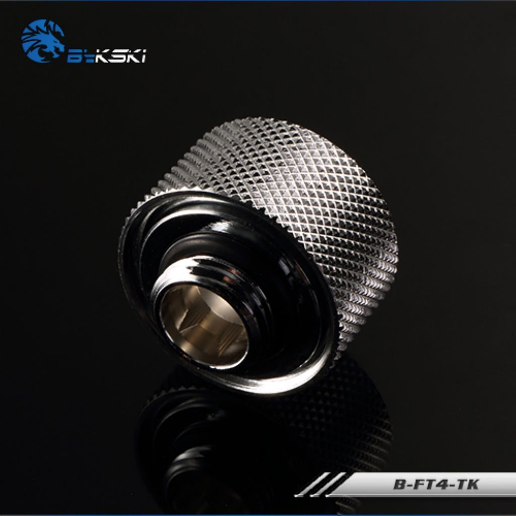 B-FT4-TK Silver Bykski Flex 13mm ID x 19mm OD Fitting