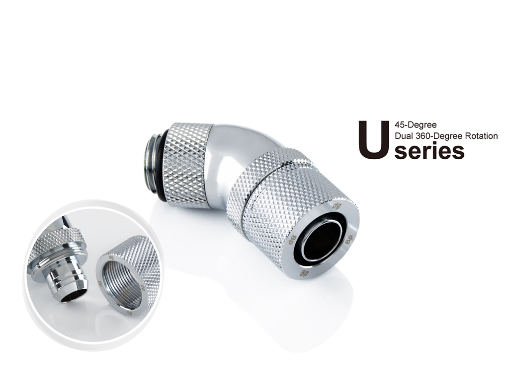 """New .. 1//2/"""" OD Compression Fitting for Soft Tubing Bitspower G1//4/"""" to 3//8/"""" ID"""
