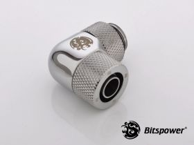 Bitspower G1/4 Silver Shining Compression Rotaly Angle Fitting For ID8mm/OD11mm