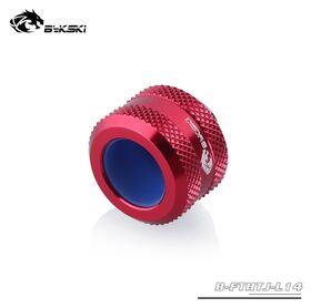 BYKSKI OD14mm Enhanced Anti-off Rubber Hand Compression Hard Tube Fitting Red