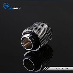Bykski 15mm Rotary M-M G1/4 Fitting Silver